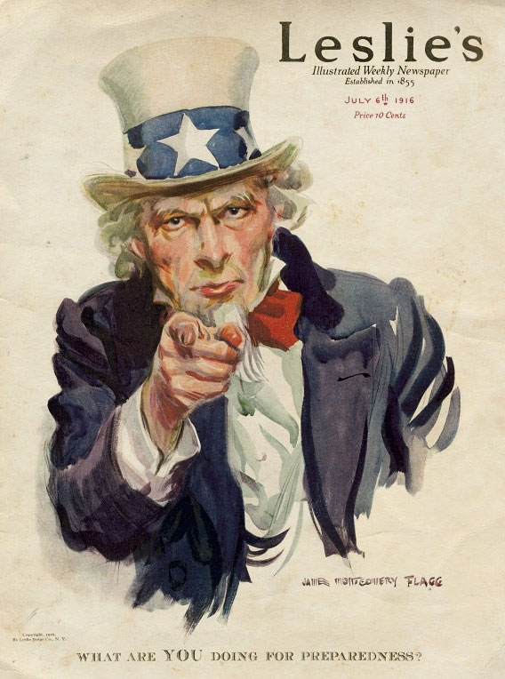 leslies uncle sam magazine cover