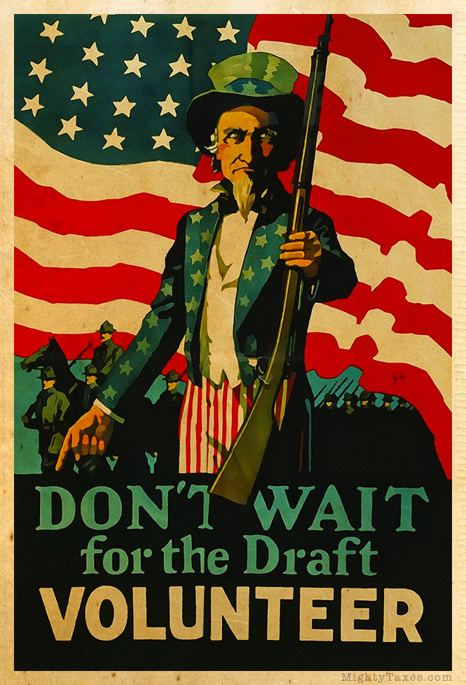 uncle sam volunteer propaganda poster