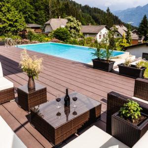 Sunny pool lounge