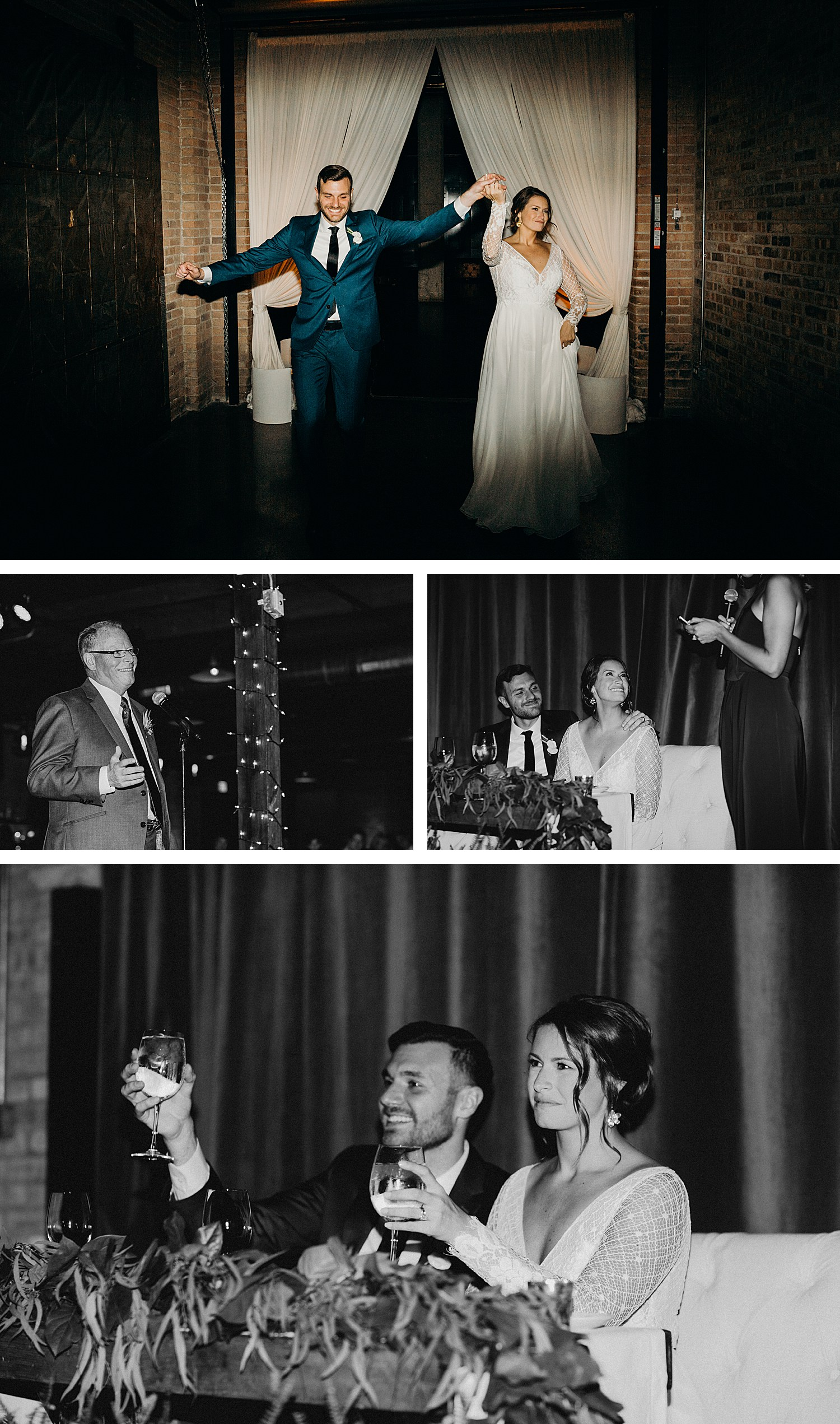Boho Industrial Wedding at Morgan Manufacturing planned LK Events in Chicago