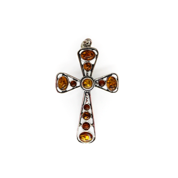 Amber Cross Pendant