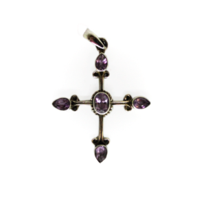 Amethyst Cross Mini Pendant