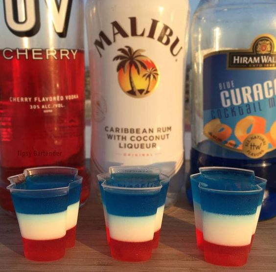 ALL AMERICAN JELLO SHOTS