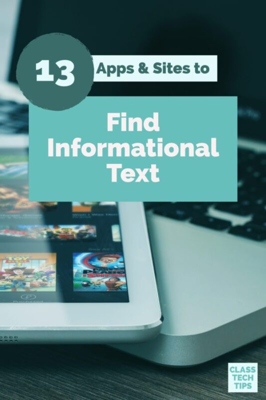 13 Apps & Sites to Find Informational Text