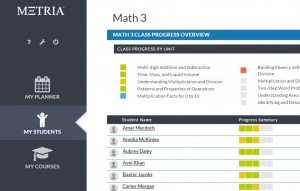 MTE Student Proficiency Screenshot