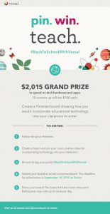 Pinterest Contest from Versal: Lots of Cash Prizes!