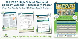 H&R Block Budget Challenge and Lesson Plans for Financial Literacy