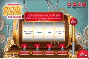 Scholastic Story Starters Writing Prompts on the Web