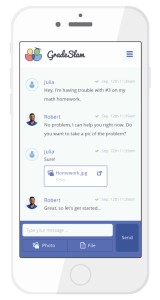 Chat-Based, On-Demand Tutoring Service from GradeSlam