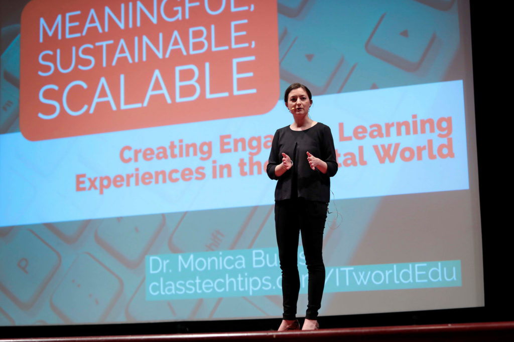 EdTech Expert Monica Burns speaking at ITWorldEDU