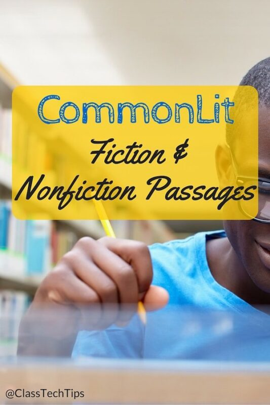 CommonLit Online Resource for Fiction and Nonfiction Passages