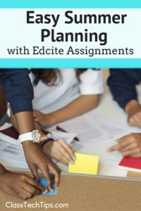 Easy Summer Planning with Edcite Assignments