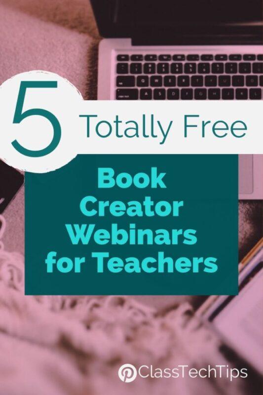 5 Totally Free Book Creator Webinars for Teachers 3