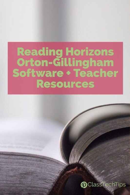 Reading Horizons Orton-Gillingham Software + Teacher Resources 4