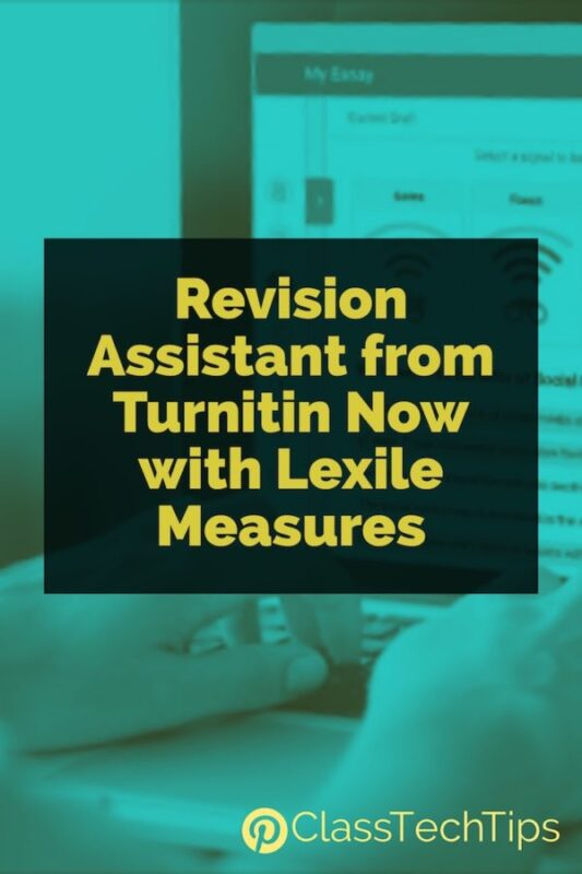 Revision Assistant from Turnitin Now with Lexile Measures