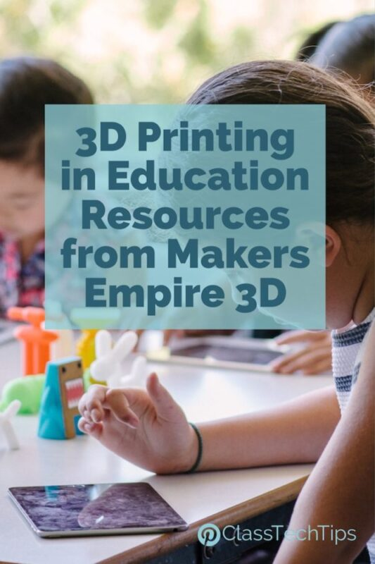 3D Printing in Education Resources from Makers Empire 3D