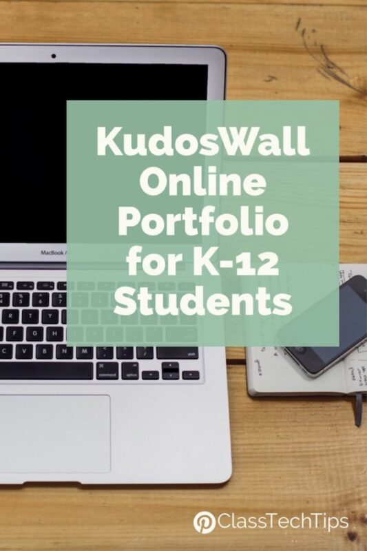 KudosWall Online Portfolio for K-12 Students