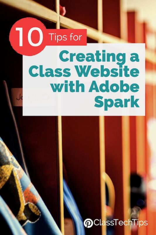 10 Tips for Creating a Class Website with Spark Page 4