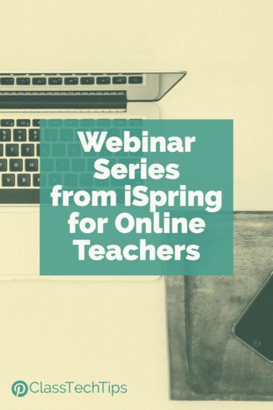 Webinar Series from iSpring for Online Teachers