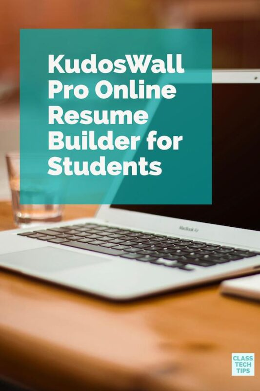 KudosWall Pro Online Resume Builder for Students 1