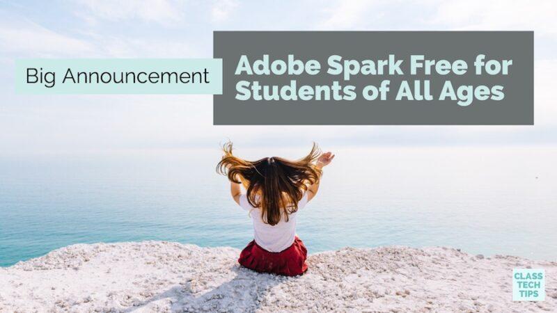 adobe spark login student