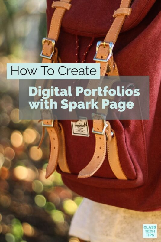Digital Portfolios with Spark Page
