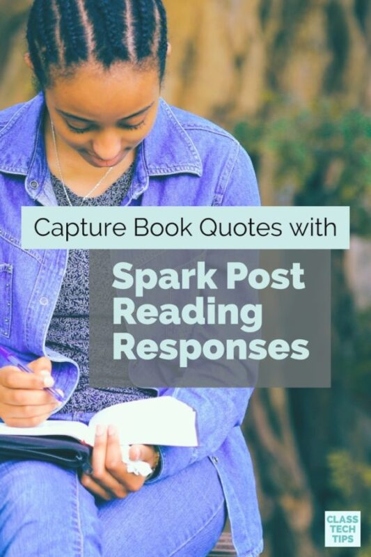 Capture Book Quotes with Spark Post Reading Responses