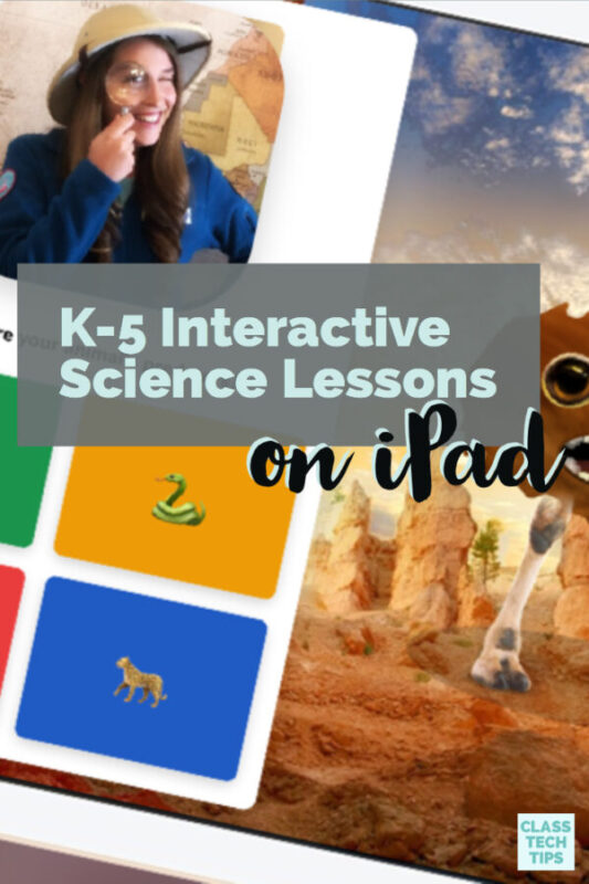 K-5 Interactive Science Lessons on iPad