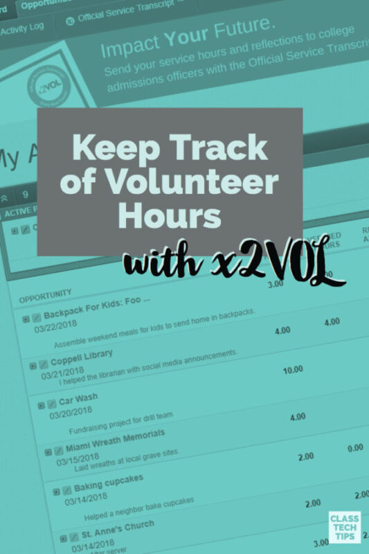 Keep Track of Volunteer Hours with x2VOL