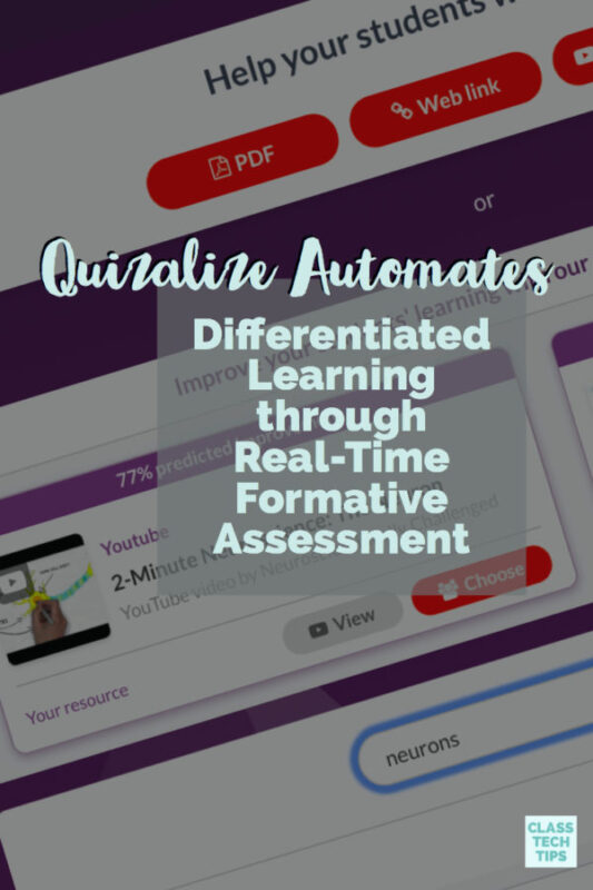 Quizalize Automates Differentiated Learning through Real-Time Formative Assessment