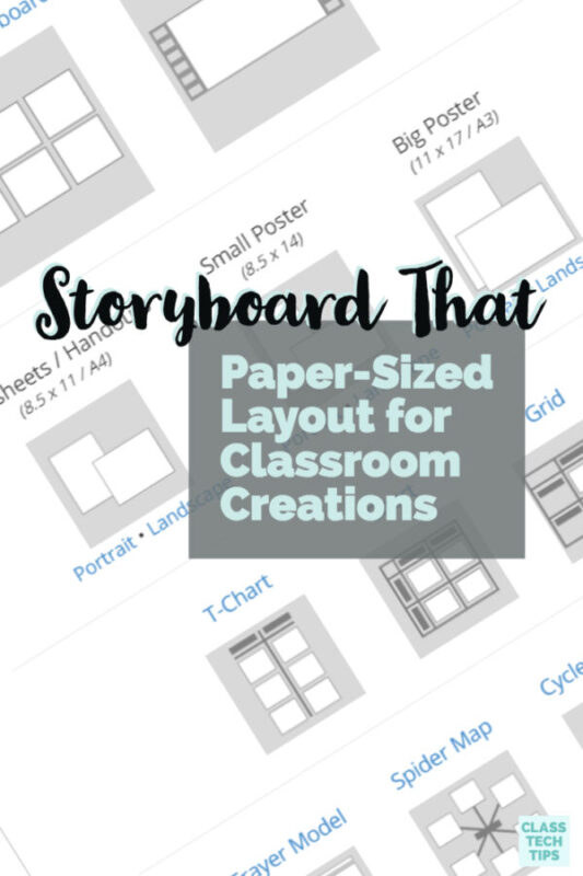 Storyboard That Paper-Sized Layout for Classroom Creations