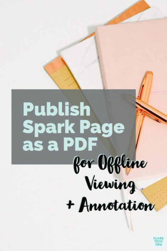 Publish Spark Page as a PDF for Offline Viewing 2