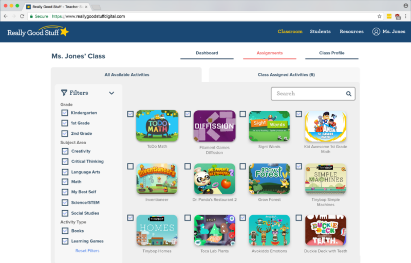 Really Good Stuff Digital Learning Collection for K-2