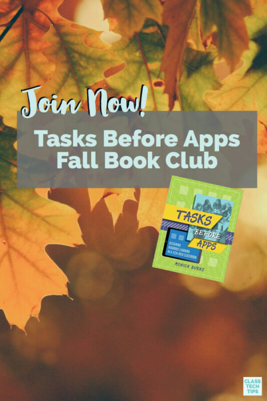 Tasks Before Apps Fall Book Club 3