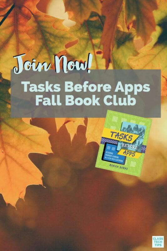 Tasks Before Apps Fall Book Club 3