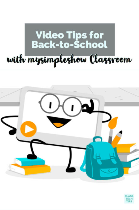 Video Tips for Back-to-School with mysimpleshow Classroom 4