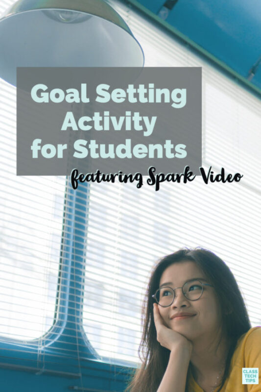 Learn about how to set up a goal setting activity to students. This activity is perfect for students of all ages and uses the free Spark Video tool.