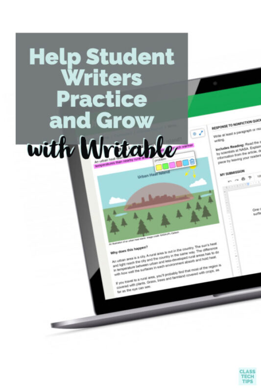 You can help motivate student writers this year with the new tool from Writable. It helps students practice writing and teachers give writing feedback.