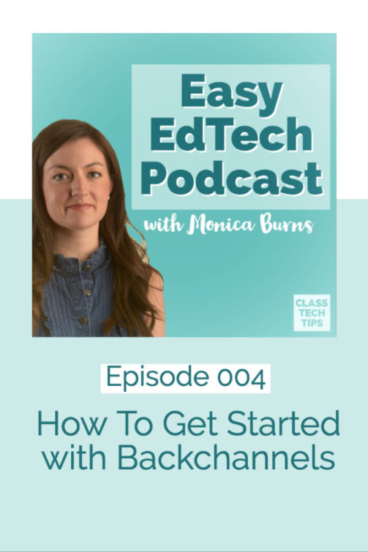 In this episode I share strategies for using backchannels in your classroom to increase engagement and check for understanding. You'll hear how this strategy can help with your formative assessment routines as well as some of my absolute favorite EdTech tools to help get the job done!