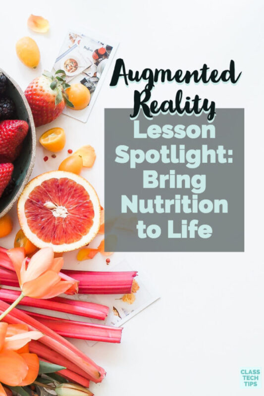 An Augmented Reality Lesson can breathe life into any activity this school year. You can teach nutrition using augmented reality this school year.