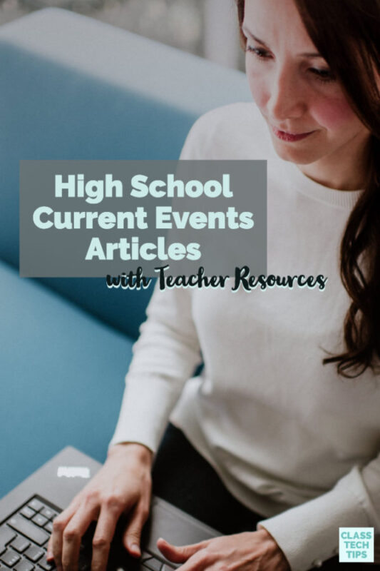 The Week has high school current events articles along with teacher resources. Learn all about their teacher lesson guides and classroom ideas!