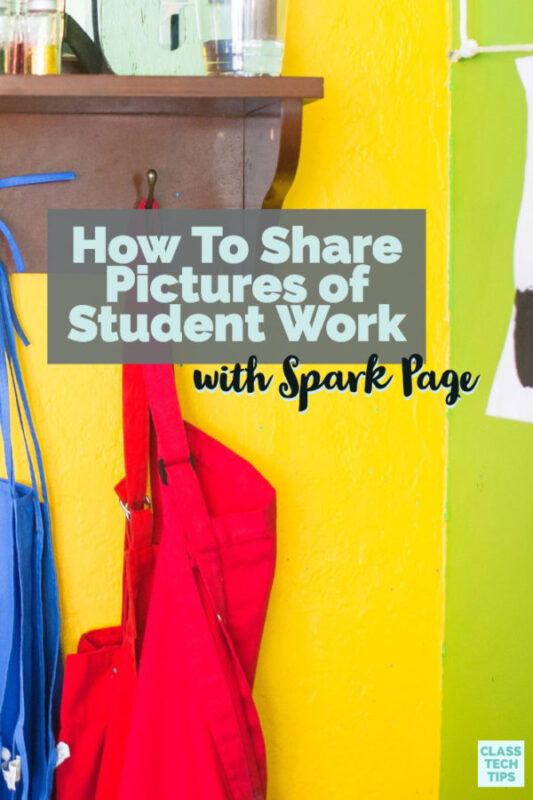 Learn how to share pictures of student work with Adobe Spark Page. You can snap pictures, share text, and so much more with this website creator.