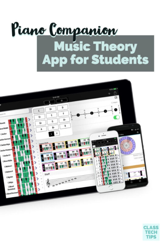 This music theory app has features you can use in the music classroom with students of all ages. It is compatible with lots of phones and tablets too!