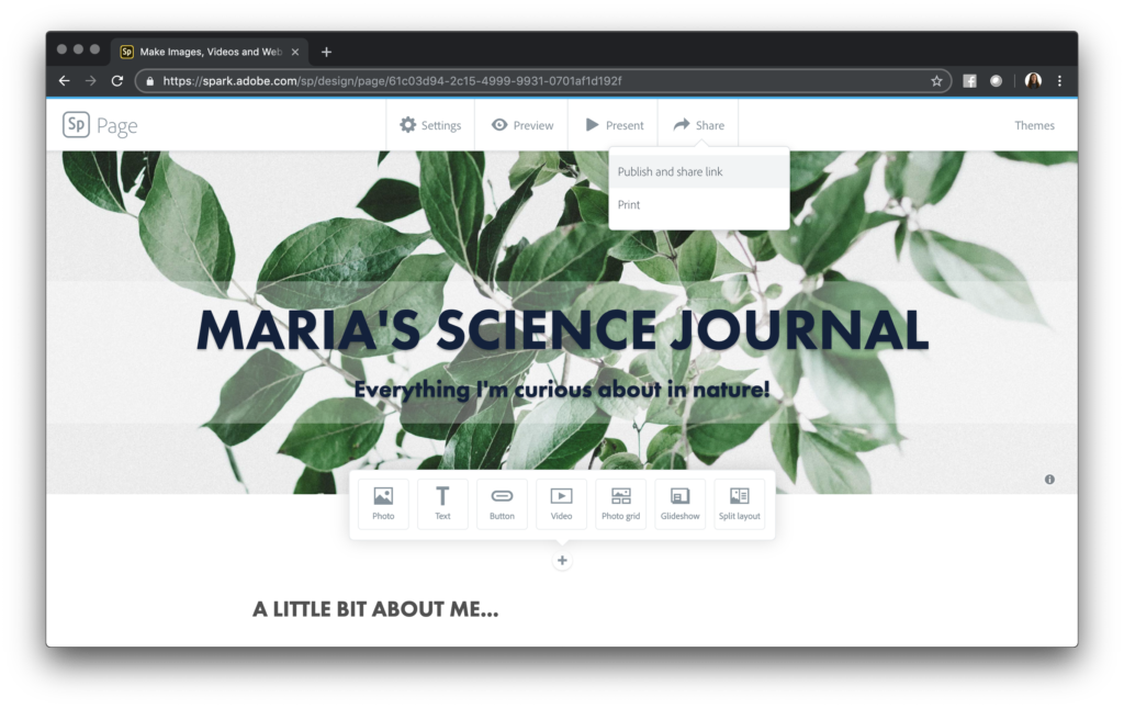 How To Easily Create Student Journals with Adobe Spark