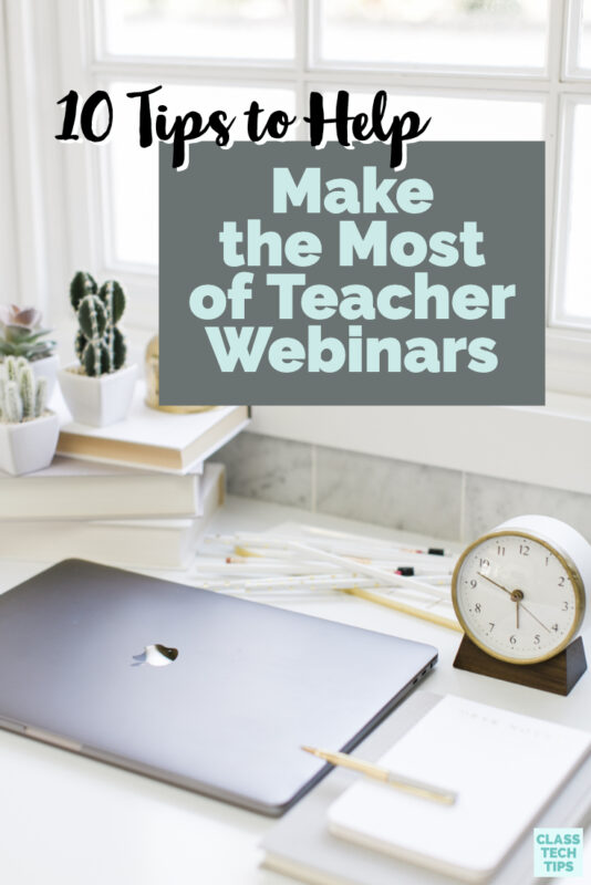 If you're looking for to learn virtually this school year, check out this list of tips for teacher webinars so you can make the most out of every minute.