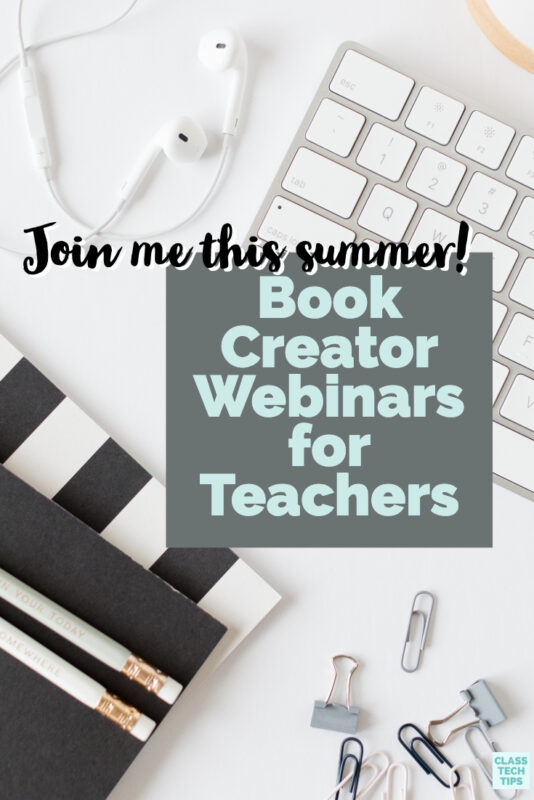 Join me this summer for a series of ten special Book Creator webinars for teachers. These events are free to join and we can't wait to share with you!