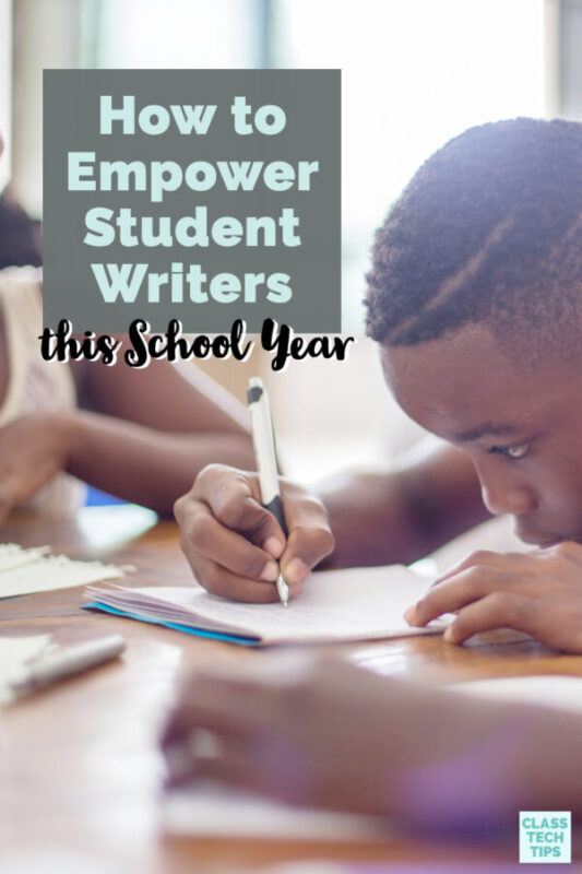 Learn how to empower student writers throughout the school year with these special resources for students in elementary and middle school.