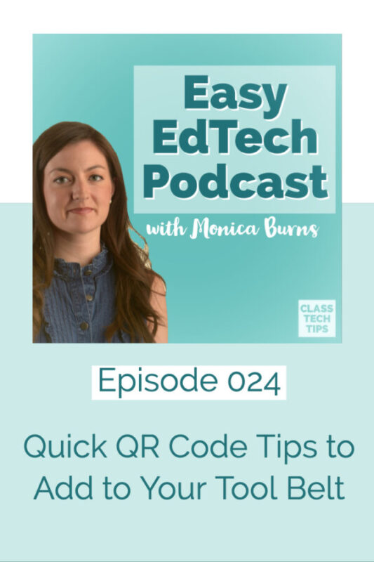 In this episode we'll focus on simple tips for using QR codes that all pack a punch no matter what age group or subject you work with this school year.. You'll hear about tips and strategies for differentiating instruction, distributing materials, and keeping families up to date on classroom activities!