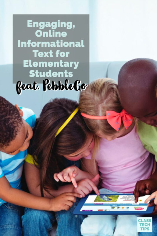Learn how PebbleGo gives teachers instant access to engaging informational text for elementary students. Try this EdTech tool in your reading classroom.