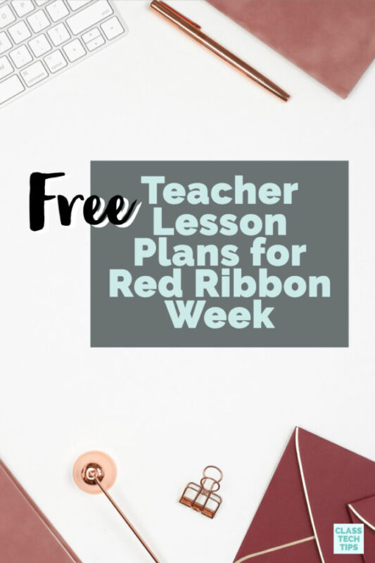 In this blog post you will learn about free teacher lesson plans for Red Ribbon Week! These multimedia resources are hosted online and free for you to use.